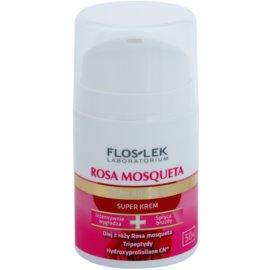 FlosLek Laboratorium Rosa Mosqueta Rejuvenation 50+ intenzivní hydratační krém s protivráskovým účinkem  50 ml