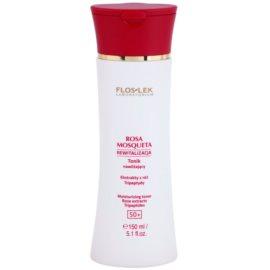 FlosLek Laboratorium Rosa Mosqueta Rejuvenation 50+ tónico hidratante  150 ml