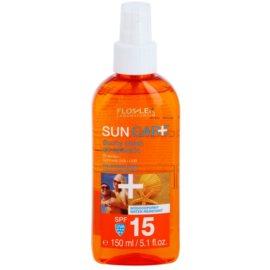 FlosLek Laboratorium Sun Care suho olje za sončenje v pršilu SPF 15  150 ml