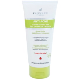 FlosLek Pharma Anti Acne gel limpiador antibacteriano sin parabenos  200 ml