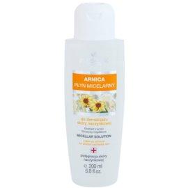 FlosLek Pharma Arnica agua micelar limpiadora para rostro y ojos  200 ml
