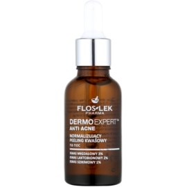 FlosLek Pharma DermoExpert Acid Peel Normalising Night Treatment For Skin With Imperfections  30 ml