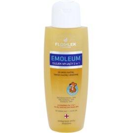 FlosLek Pharma Emoleum tusoló olaj érzékeny bőrre 2 az 1-ben  200 ml