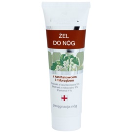 FlosLek Pharma Leg Care Horse Chestnut & Ginkgo Biloba gel refrigerante  para pés cansados  50 ml
