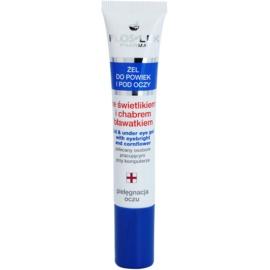 FlosLek Pharma Eye Care Gel pentru  jurul ochilor cu un luminator și albastrele  15 ml