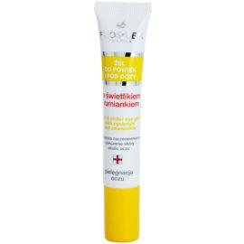 FlosLek Pharma Eye Care Gel pentru   jurul ochilor cu un luminator și mușețel  15 ml