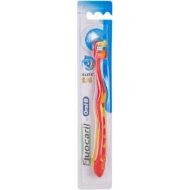 Fluocaril Kids 2-6 zubní kartáček pro děti Red & Yellow