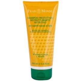 Frais Monde Sun ochranný šampon pro vlasy namáhané chlórem, sluncem a slanou vodou  200 ml