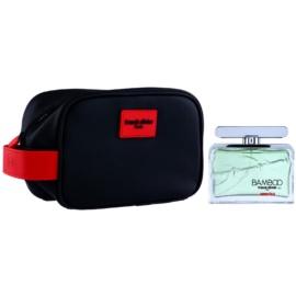 Franck Olivier Bamboo America подаръчен комплект I. тоалетна вода 75 ml + козметична чанта