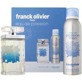 Franck Olivier Eau De Passion darčeková sada I. toaletná voda 75 ml + deodorant v spreji 200 ml