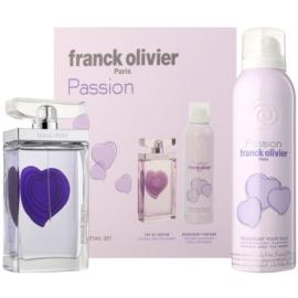 Franck Olivier Passion darilni set II. toaletna voda 75 ml + dezodorant v pršilu 200 ml