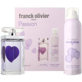 Franck Olivier Passion Geschenkset II. Eau de Toilette 75 ml + Deo-Spray 200 ml