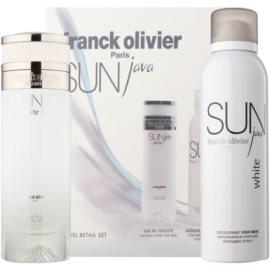 Franck Olivier Sun Java White Men Geschenkset I. Eau de Toilette 75 ml + Deo-Spray 200 ml