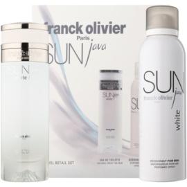 Franck Olivier Sun Java White Men dárková sada I. toaletní voda 75 ml + deodorant ve spreji 200 ml