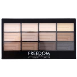 Freedom Pro 12 Audacious Mattes paleta de sombras de ojos con aplicador  12 g