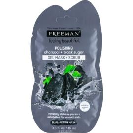 Freeman Feeling Beautiful masca exfolianta pentru curatarea pielii Charcoal & Black Sugar  15 ml