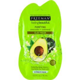 Freeman Feeling Beautiful kaolínová pleťová maska pro hloubkové čištění Avocado & Oatmeal  15 ml
