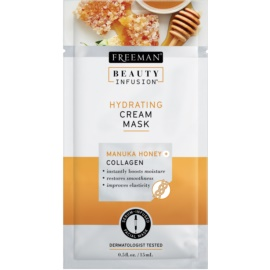 Freeman Beauty Infusion Manuka Honey + Collagen masque-crème hydratant pour peaux normales à sèches  15 ml