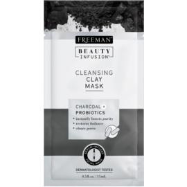 Freeman Beauty Infusion Charcoal + Probiotics maska oczyszczjąca z glinki  15 ml