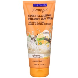Freeman Feeling Beautiful kaolínová pleťová maska bez parabénov Sweet Tea & Lemon  175 ml