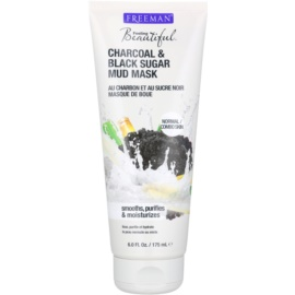 Freeman Feeling Beautiful Mud Mask for Normal and Combination Skin Charcoal & Black Sugar  175 ml