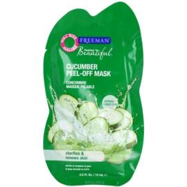 Freeman Feeling Beautiful slupovací pleťová maska pro unavenou pleť Cucumber  15 ml