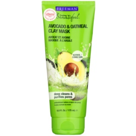Freeman Feeling Beautiful Clay Facial Mask for Normal and Combination Skin Avocado & Oatmeal 175 ml