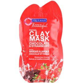 Freeman Feeling Beautiful arcmaszk agyagból hidratáló hatással Chocolate & Strawberry  15 ml