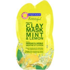 Freeman Feeling Beautiful maseczka do twarzy z kaolinem do cery tłustej i problematycznej mięta i cytryna Mint & Lemon  15 ml