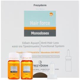 Frezyderm Hair Force bezoplachová péče proti padání vlasů na den a noc  14 x 10 ml