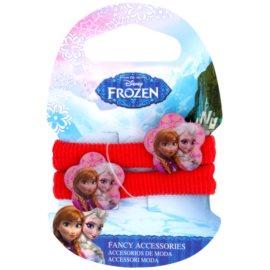 Frozen Princess Elastice de păr din bumbac cu floare de 3 ani (Red) 2 buc