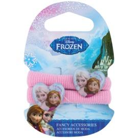 Frozen Princess gomas de algodón para el cabello en forma de corazón  a partir de 3 años (Pink) 2 ud