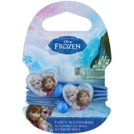 Frozen Princess elásticos para cabelo em forma de coração apartir dos 3 anos  4 un.