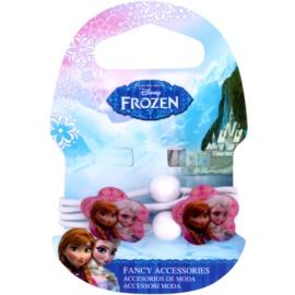 Frozen Princess gumki do włosów z kwiatkami od 3 lat (White) 4 szt.
