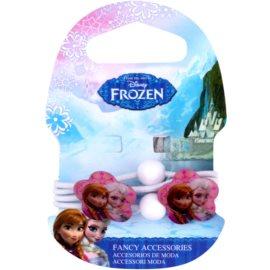 Frozen Princess Haargummis mit Dekoblume ab 3 Jahren (White) 4 St.