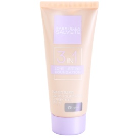 Gabriella Salvete Long Lasting 3 in 1 make-up 3 v 1 odstín 01 Sand SPF 15  30 ml