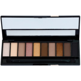 Gabriella Salvete Palette 10 Shades paleta očních stínů se zrcátkem a aplikátorem odstín 02 Nude 12 g