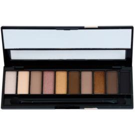 Gabriella Salvete Palette 10 Shades paleta de sombras de ojos con espejo y aplicador tono 02 Nude 12 g