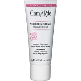 Gamarde Nutrition Intense mascarilla nutritiva intensiva para pieles secas y muy secas  40 g