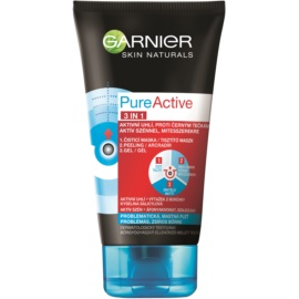 Garnier Pure Active 3-in-1 activated carbon blackhead cleanser For Oily And Problematic Skin  150 ml