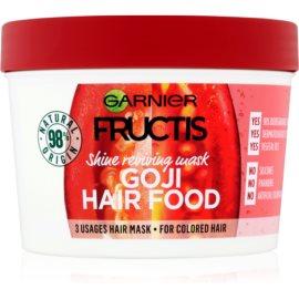 Garnier Fructis Goji Hair Food маска для повернення блиску фарбованому волоссю  390 мл