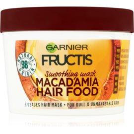 Garnier Fructis Macadamia Hair Food розгладжуюча маска для неслухняного волосся  390 мл