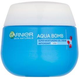 Garnier Skin Naturals Aqua Bomb feuchtigkeitsspendende Antioxidant-Gel-Creme für den Tag 3 in 1  50 ml