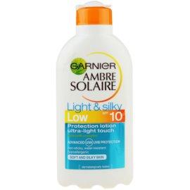Garnier Ambre Solaire Light & Silky mleczko do opalania SPF 10  200 ml