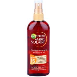 Garnier Ambre Solaire Golden Protect olej na opalování SPF 15  150 ml
