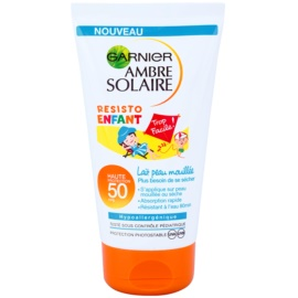 Garnier Ambre Solaire Resisto Kids Water Resistant Sun Cream For Children SPF50  150 ml