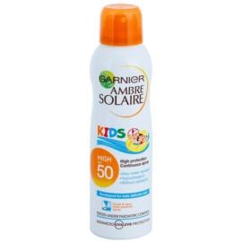 Garnier Ambre Solaire Resisto Kids vysoce voděodolný sprej na opalování SPF 50  150 ml