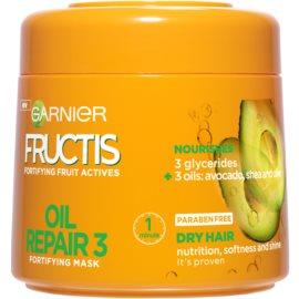 Garnier Fructis Oil Repair 3 máscara fortificante para cabelo seco a danificado  300 ml