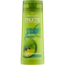 Garnier Fructis Strong & Shiny 2in1 sampon fortifiant pentru par normal  250 ml