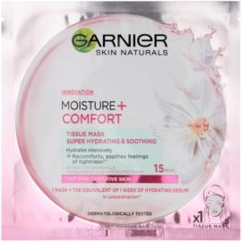 Garnier Skin Naturals Moisture+Comfort super hydratačná upokojujúca textilná maska pre suchú až citlivú pleť  32 g